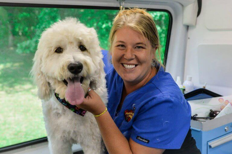 Mobile Groomer With Pet